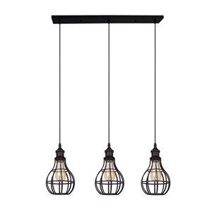 Luminaire suspendu Beldi à 3 lumières de la collection Lancy, noir
