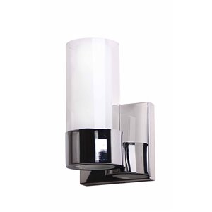 Beldi Martigny Collection 1-Light Wall Light -  Chrome - 5.5-in x 7.7-in x 4.7-in