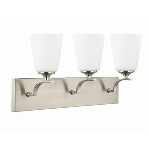 Beldi Seattle Collection 3-Light Wall Light - Satin Nickel - 7-in x 23-in x 23-in