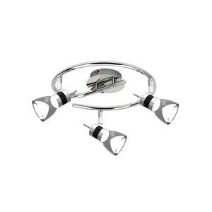 Plafonnier DEL Beldi à 3 lumières, chrome brossé, 4.3 po x 5.5 po