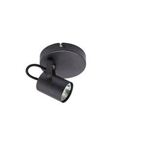 Plafonnier Beldi à 1 lumière de la collection Lorino, noir, 5.1 po x 4.7 po