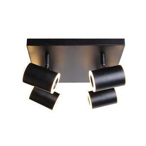 Plafonnier Beldi à 4 lumières de la collection Kipnuk, noir, 4.9 po x 13.8 po