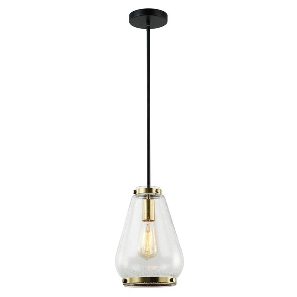Beldi Hopewell Collection 1-Light Pendant Light - Black and Gold