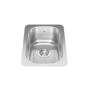 Kindred Reginox Undermount Single Bowl Kitchen/ Prep Sink - 12.38-in x 18.13-in