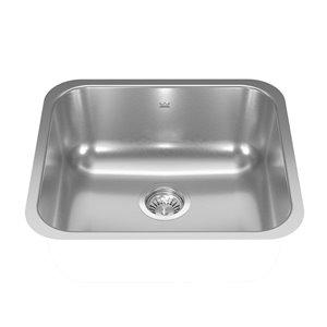 Kindred Reginox Undermount Single Bowl Stainless Steel Kitchen Sink - 19.75-in x 17.75-in
