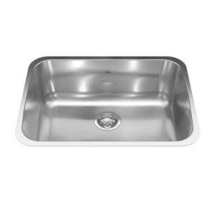 Kindred Reginox Undermount Single Bowl Stainless Steel Kitchen Sink - 24.75-in x 18.75-in
