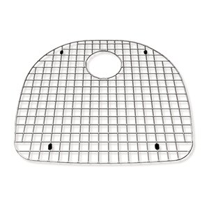Grille de fond d'évier pour la cuisine en acier inoxydable, 19.56 po x 17.13 po x 1 po