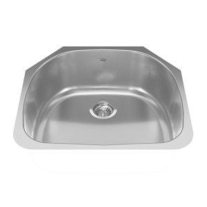Kindred Reginox Undermount Single Bowl Stainless Steel Kitchen Sink - 23-in x 20.5-in