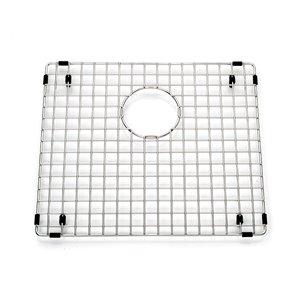 Grille de fond d'évier pour la cuisine en acier inoxydable, 16.88 po x 14.88 po x 1 po