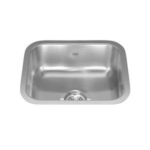 Kindred Reginox Undermount Single Bowl Prep / Kitchen Sink - 14.75-in x 12.75-in