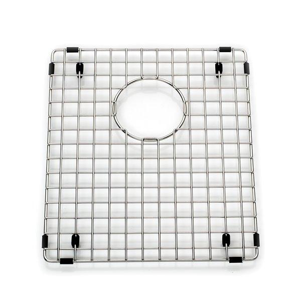 Grille de fond d'évier pour la cuisine en acier inoxydable, 12.75 po x 17.88 po x 1 po