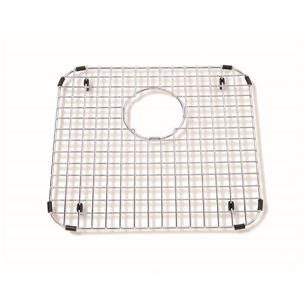 Grille de fond d'évier pour la cuisine en acier inoxydable, 15.25 po x 14.25 po x 1 po