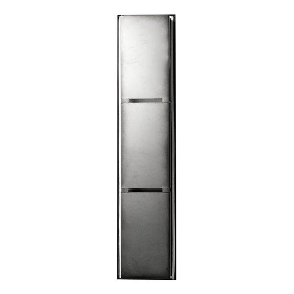 ALFI brand 8-in x 36-in Black Matte Stainless Steel Triple Shelf Bath Shower Niche