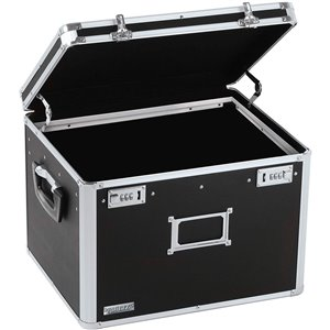 Vaultz Locking Letter/Legal File Chest - Black