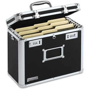 Vaultz Locking Letter Size File Chest - Black