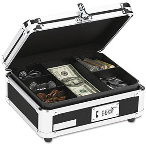 Vaultz Locking Cash Box - Black