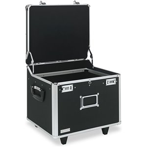 Vaultz Locking Letter/Legal Mobile File Chest - Black