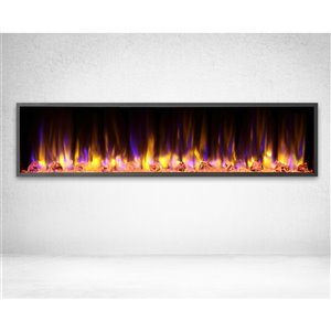 Dynasty Harmony 64-in Built-in Electric Fireplace - Black