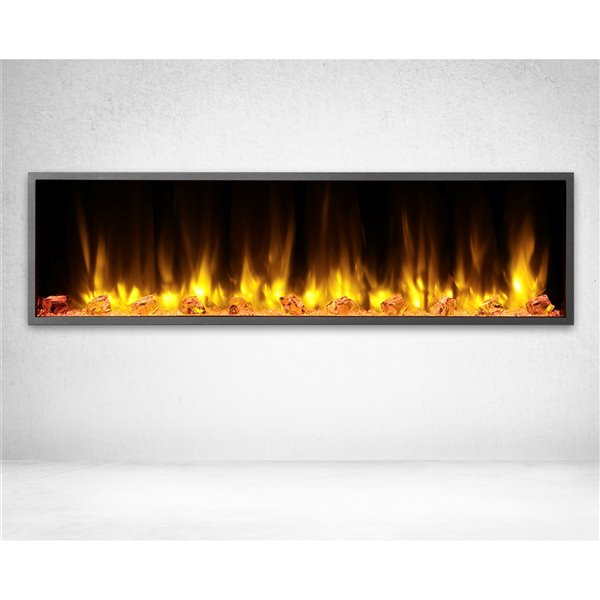Dynasty Harmony 57-in Built-in Electric Fireplace - Black