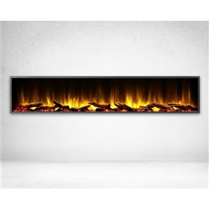 Dynasty Harmony 80-in Built-in Electric Fireplace - Black