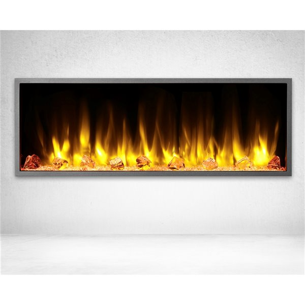 Dynasty Harmony 45-in Built-in Electric Fireplace - Black