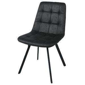 Chaises de salle à manger Zen de CORCORAN, noires, ens. de 2