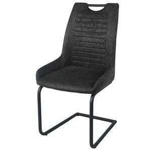 Chaises de salle à manger Zen de CORCORAN à haut dossier, noir, ens. de 2