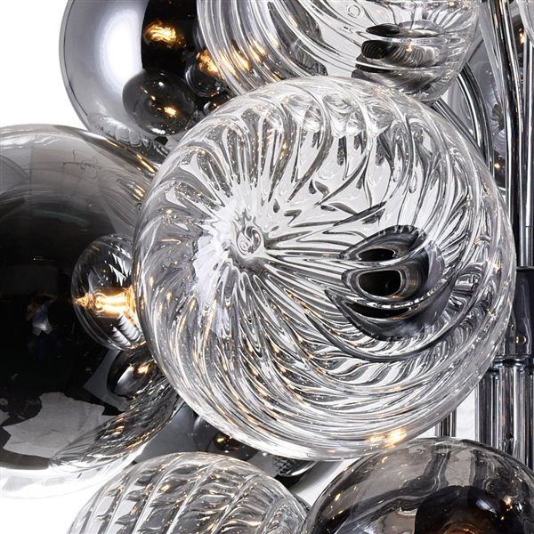 CWI Lighting Pallocino Contemporary 15 -Light Chandelier  -  Chrome Finish