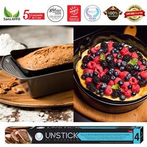 Feuilles de cuisson antiadhésives réutilisables pour moules à gâteaux et pains, 2 mcx