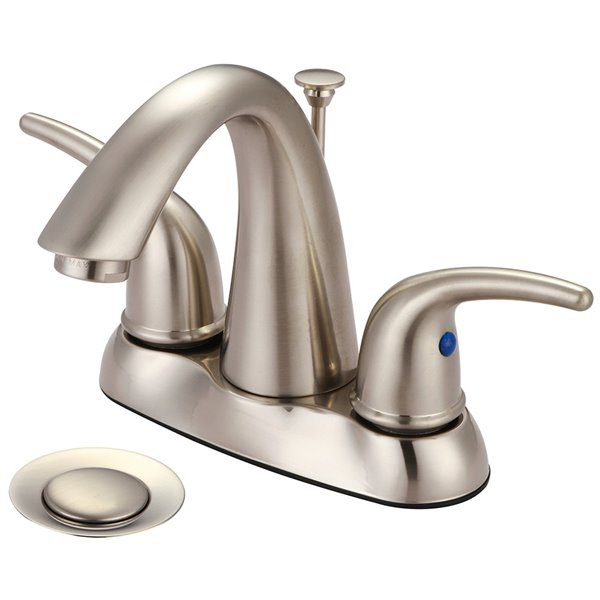 Olympia Faucet Accent 2-Handle Lavatory Faucet - Brushed Nickel