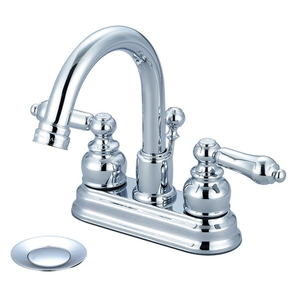 Pioneer Industries Brentwood Two-Handle Bathroom Faucet with Gooseneck Spout - Polished Chrome
