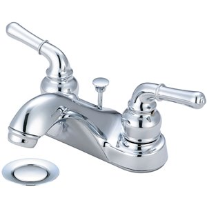 Olympia Faucet Accent 2-Lever Handle Bathroom Faucet - Polished Chrome
