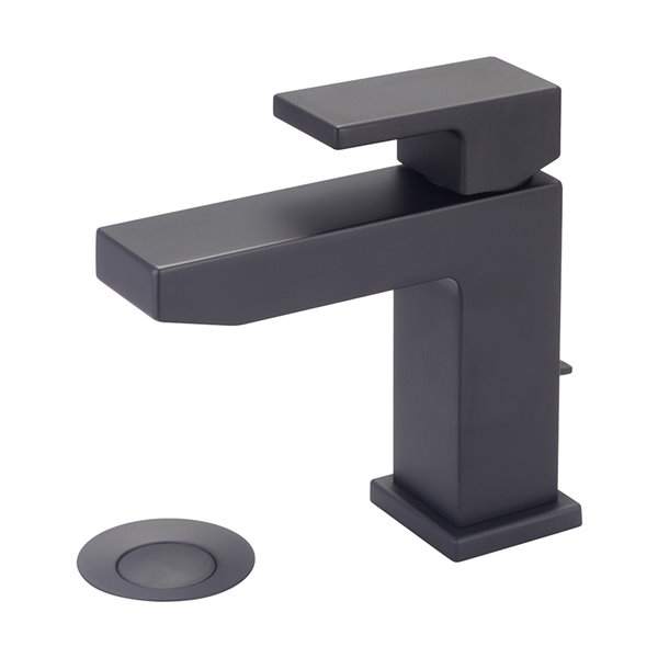 Pioneer Industries MOD Single Rectangular Lever Handle Bathroom Faucet - Matte Black
