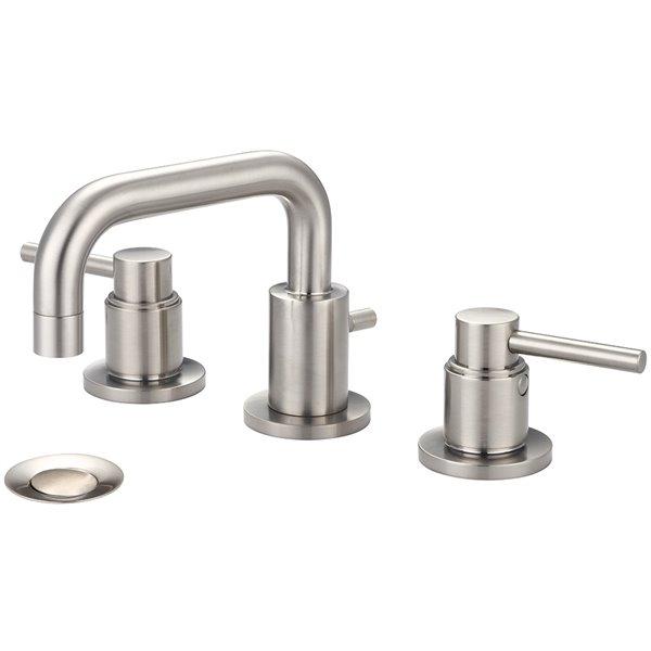 Pioneer Industries Motegi 2-Handle Widespread Bathroom Faucet with 90° Spout - Brushed Nickel