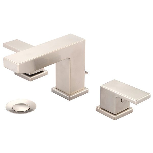 Pioneer Industries MOD Rectangular Two-Handle Bathroom Faucet - Brushed Nickel