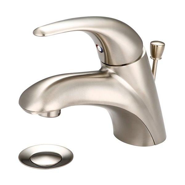 Pioneer Industries Legacy Single-Handle Curved Bathroom Faucet - Brushed Nickel