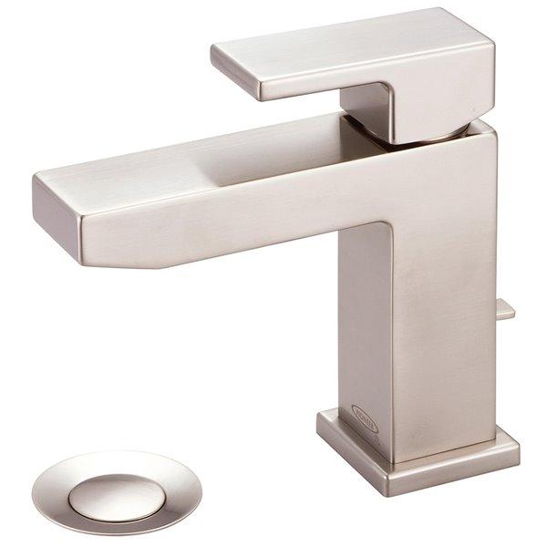 Pioneer Industries MOD Single Rectangular Lever Handle Bathroom Faucet - Brushed Nickel