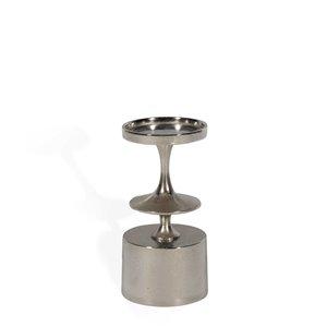 Bougeoir en métal Carmella de Gild Design House, petit format, argent, 10 po