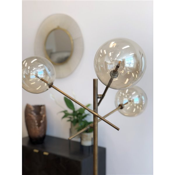 Gild Design House Concord Floor Lamp ith 3-Light - Bronze - 67-in