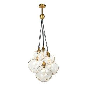 Gild Design House Kiran Chandelier -  Clear Glass and Gold - 6-Light