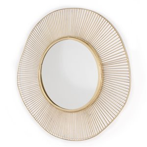 Miroir en métal Brielle de Gild Design House, moderne/contemporain, or, 15 po