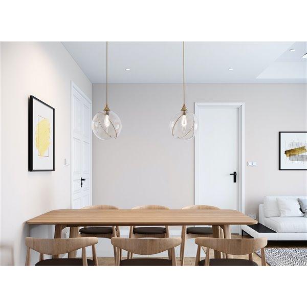 Gild Design House Kiran Glass Globe Pendant - 12-in x 12-in x 14-in