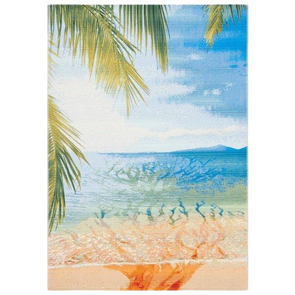 Tapis Barbados BAR515A-5 de Safavieh, 5 pi 3 po x 7 pi 6 po, or / bleu
