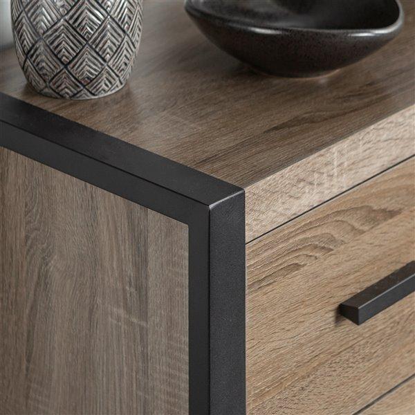 Walker Edison Industrial TV Cabinet - 71-in x 22-in - Grey