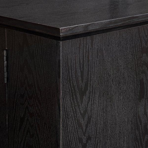 Walker Edison Casual TV Cabinet - 57-in x 24-in - Black