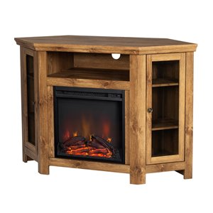 Walker Edison Casual Fireplace TV Stand - 48-in x 32-in - Barnwood