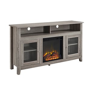 Walker Edison Farmhouse Fireplace TV Stand - 58-in x 32-in - Grey