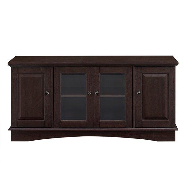 Walker Edison Casual TV Cabinet - 52-in x 24-in - Espresso
