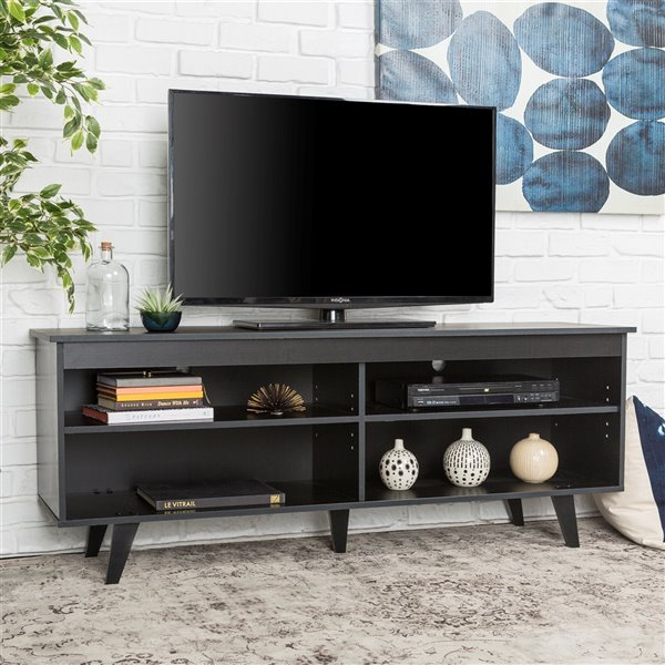 Walker Edison Coastal TV Cabinet - 58-in x 23-in - Black