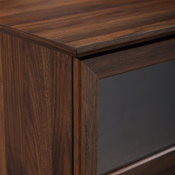 Walker Edison Country TV Cabinet - 58-in x 25-in - Dark Walnut